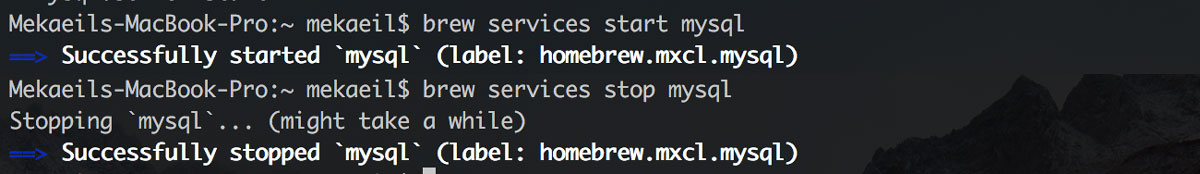 brew services start mysql