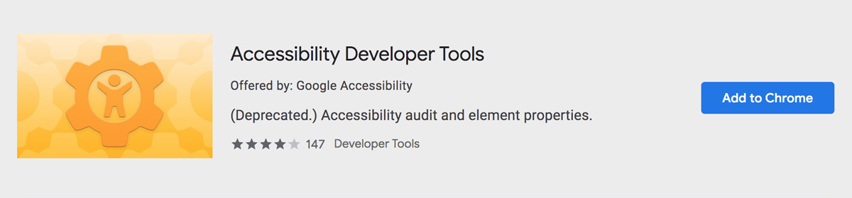 Accessibility Developer Tools