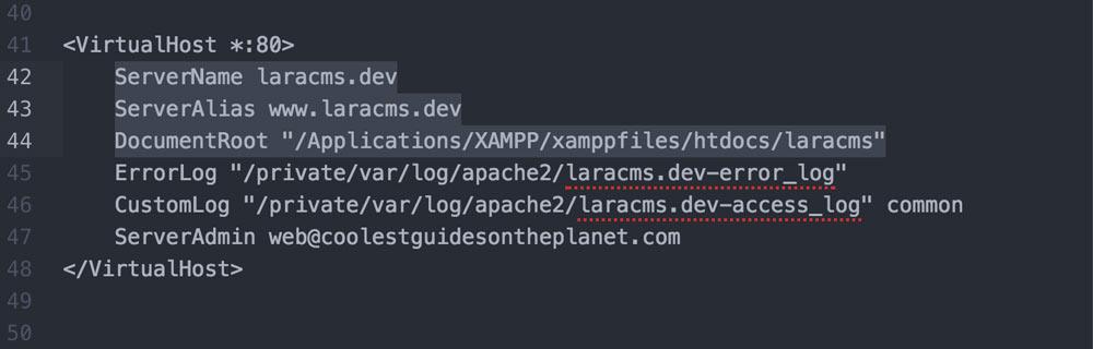 Virtual host configuration httpd-conf