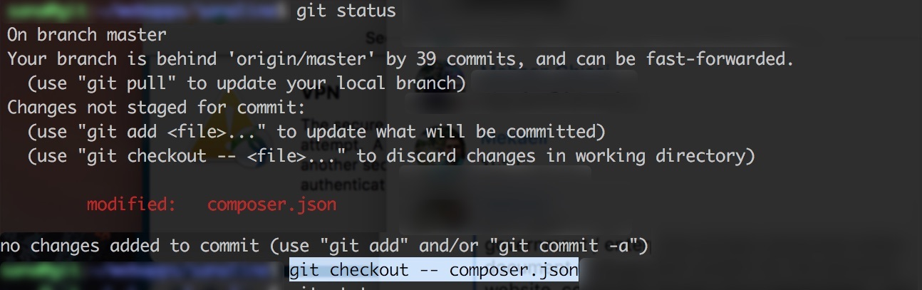 git checkout file before commit