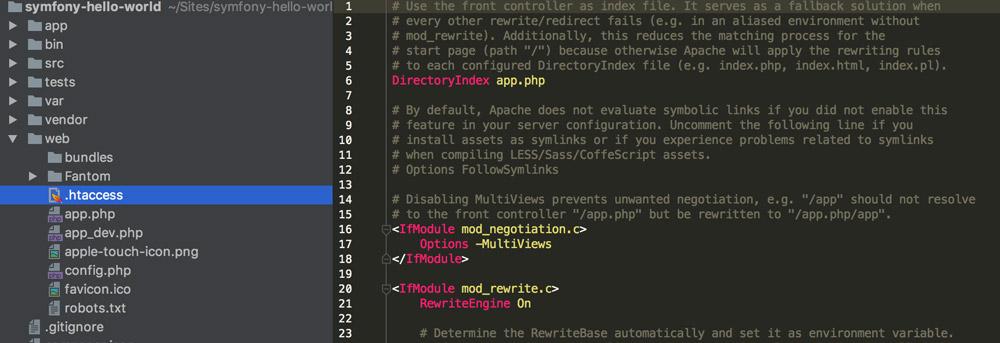 htacces file in symfony 3.3