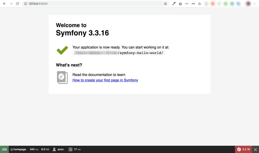 install symfony