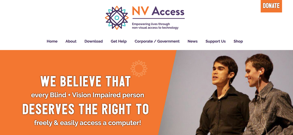 nvaccess screen reader web accessibility test