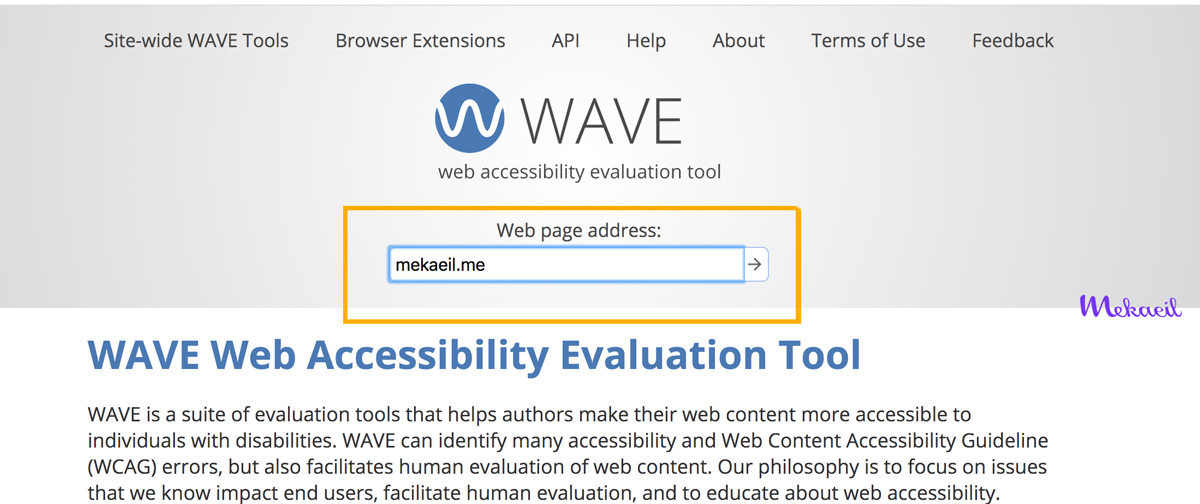 Wave Webaim accessibility tools test