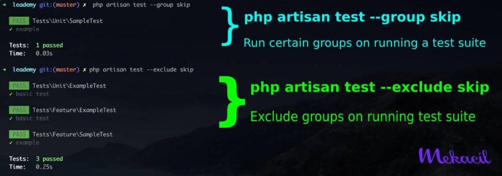 php artisan test group